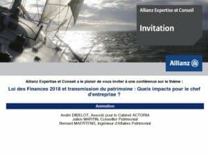 ALLIANZ et ACTORIA : événement sur la transmission (Sophia-Antipolis)