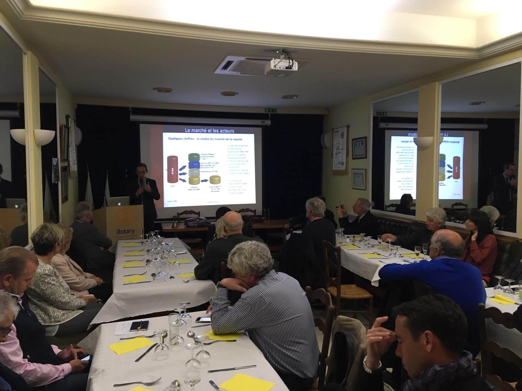 Conférence d'André DIDELOT au Rotary club d'ANTIBES